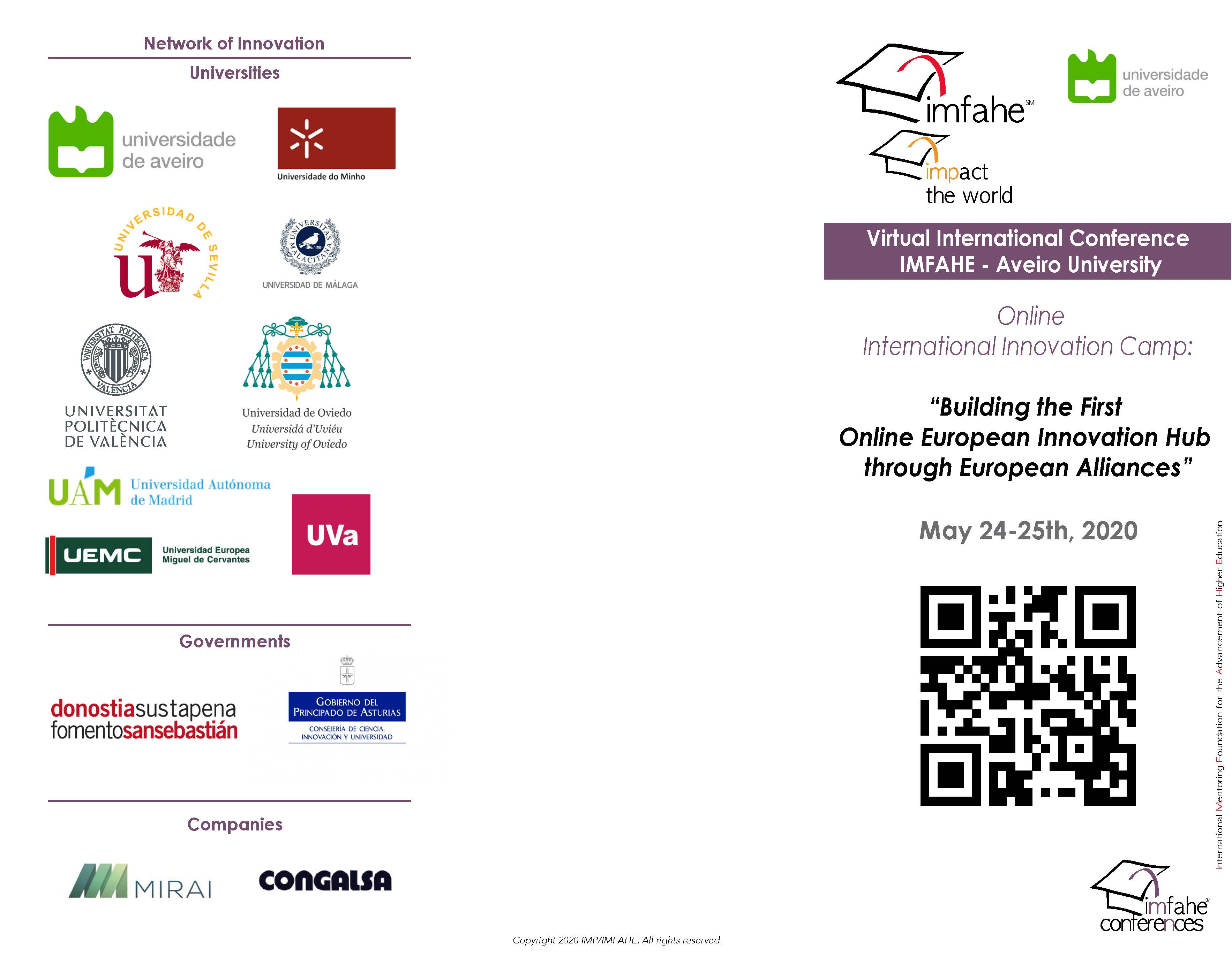 Cover Agenda International Conference 2020